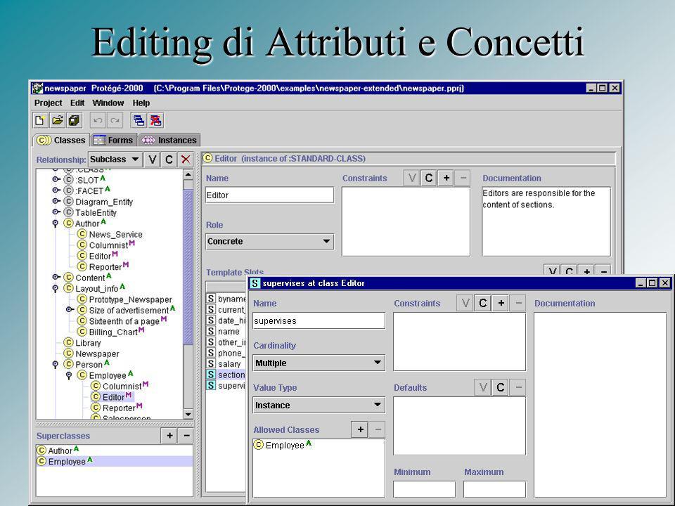 7 Editing di Attributi e Concetti