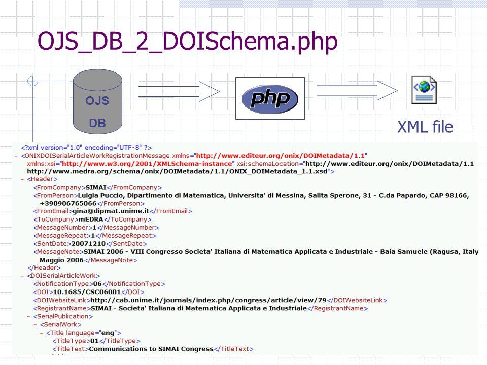 OJS DB OJS_DB_2_DOISchema.php XML file