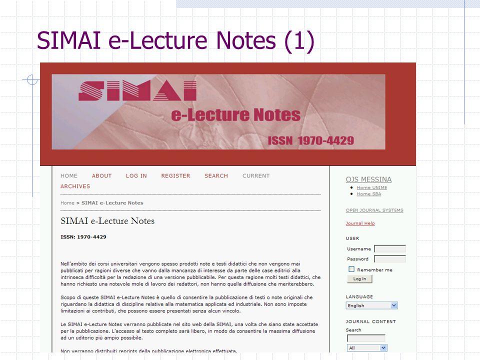 SIMAI e-Lecture Notes (1)
