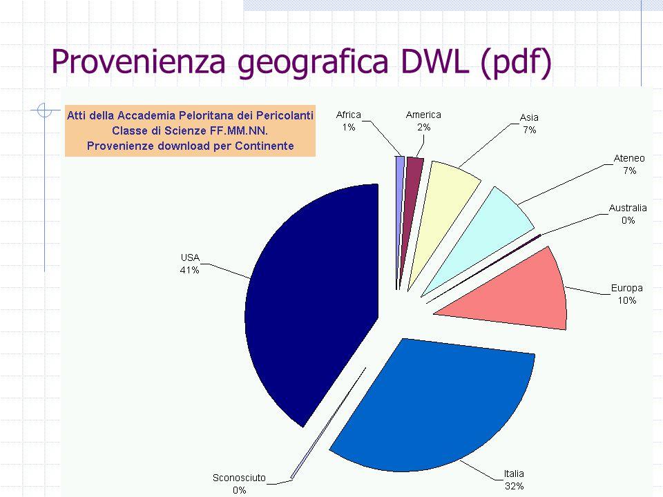 Provenienza geografica DWL (pdf)