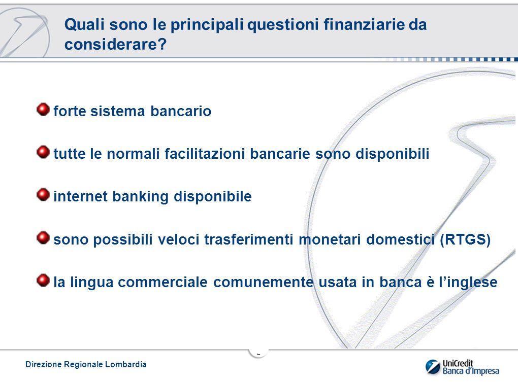 2 Quali sono le principali questioni finanziarie da considerare.