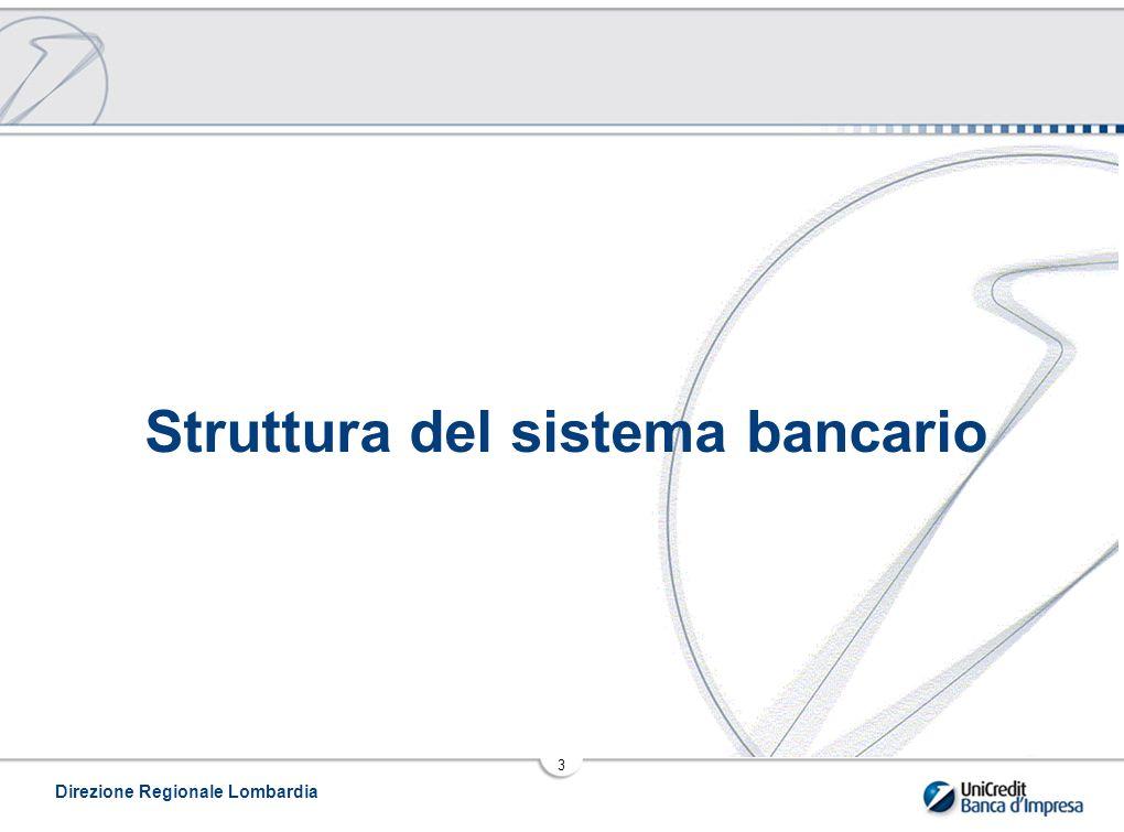 Direzione Regionale Lombardia 3 Struttura del sistema bancario