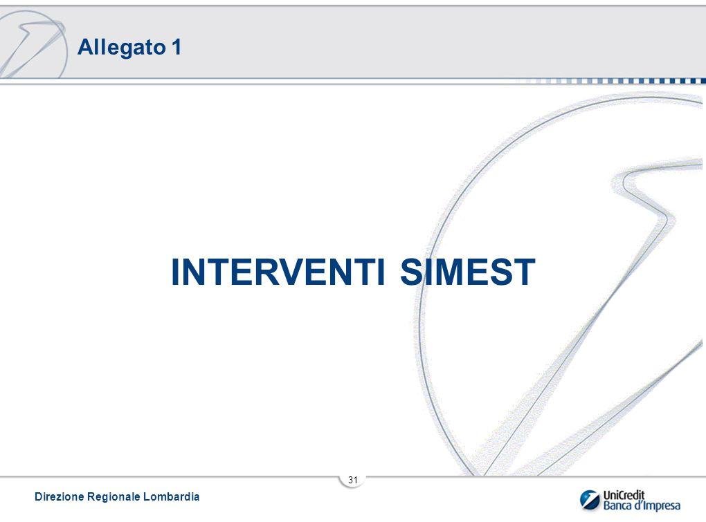 Direzione Regionale Lombardia 31 INTERVENTI SIMEST Allegato 1