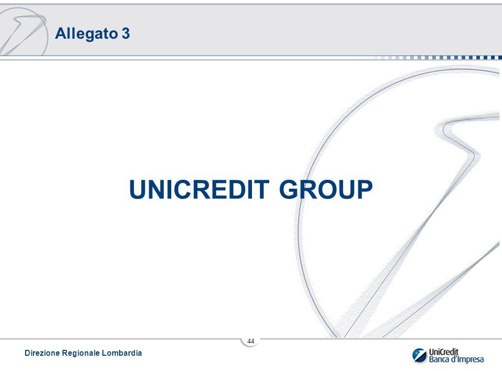 Direzione Regionale Lombardia 44 UNICREDIT GROUP Allegato 3