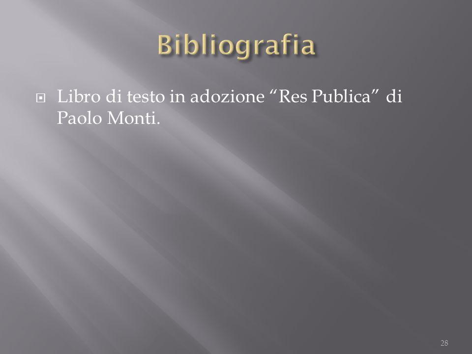 """ Libro di testo in adozione """"Res Publica"""" di Paolo Monti. 28"""