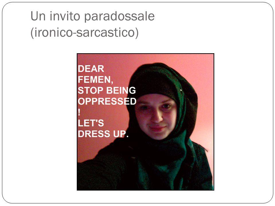 Un invito paradossale (ironico-sarcastico)