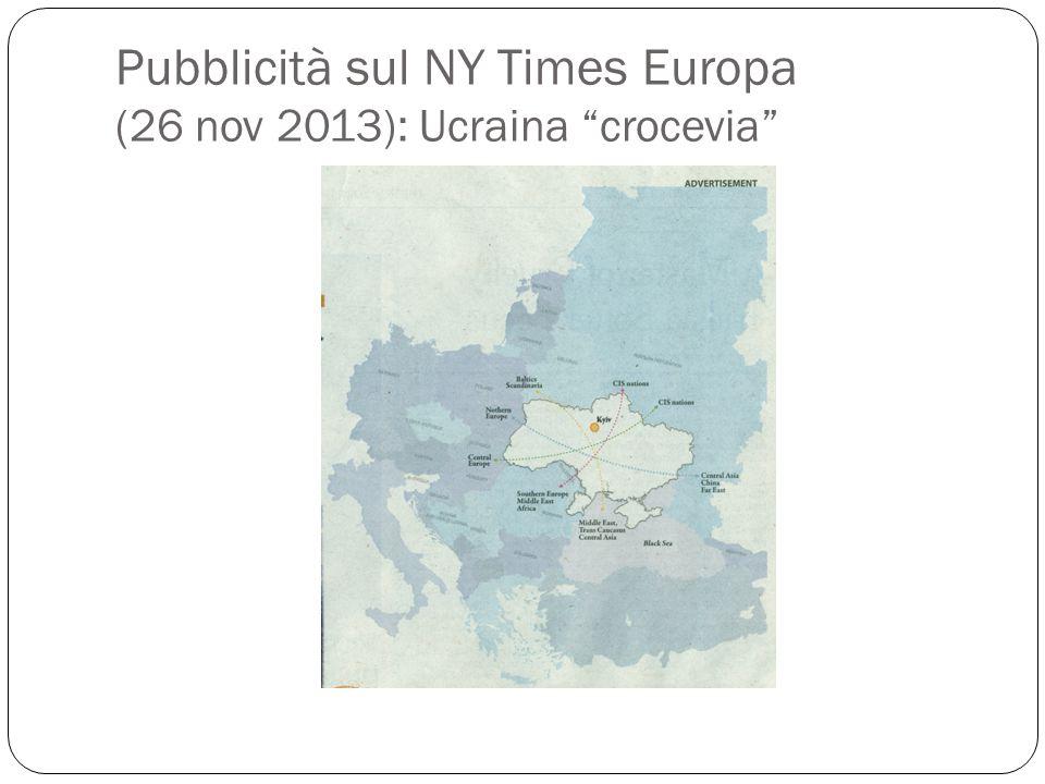 """Pubblicità sul NY Times Europa (26 nov 2013): Ucraina """"crocevia"""""""
