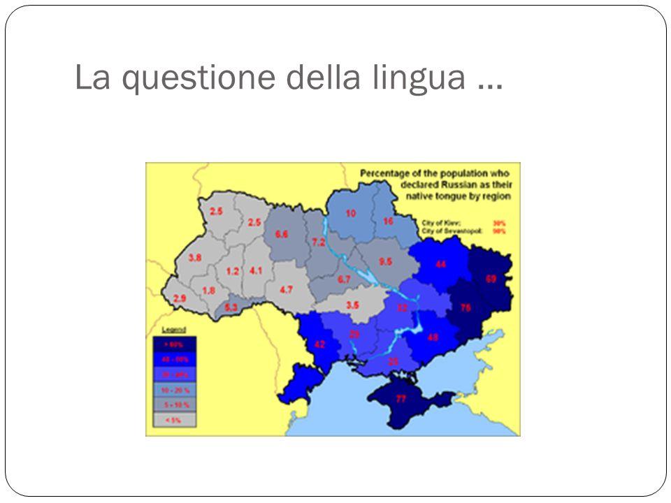 La questione della lingua …