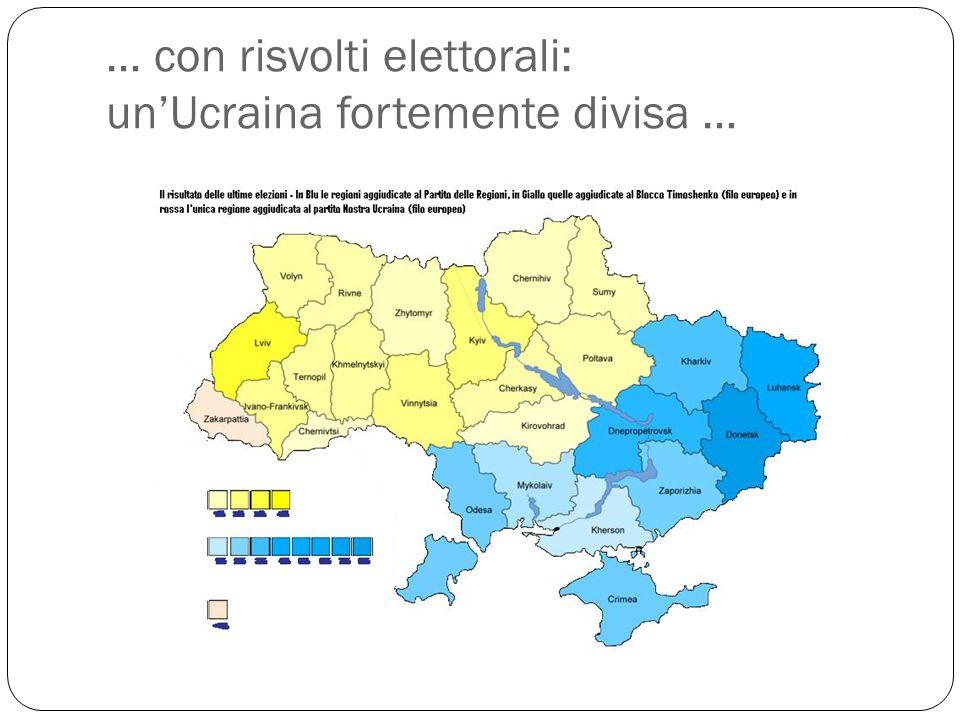 … con risvolti elettorali: un'Ucraina fortemente divisa …