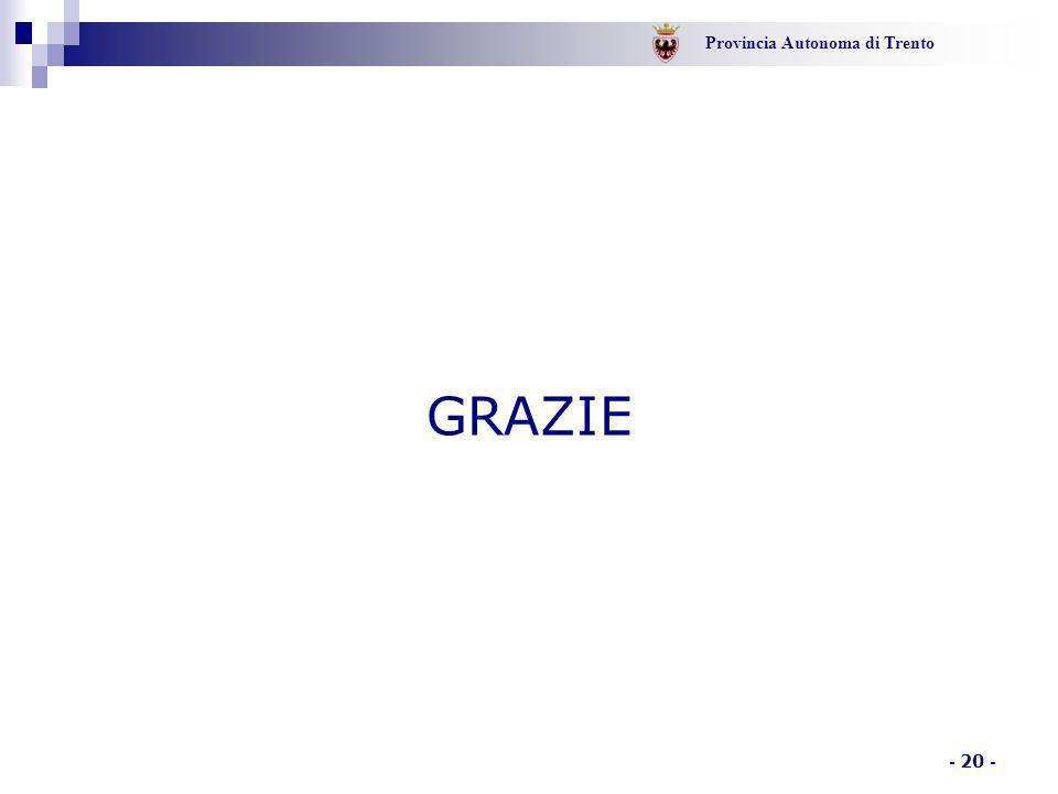 Provincia Autonoma di Trento - 20 - GRAZIE