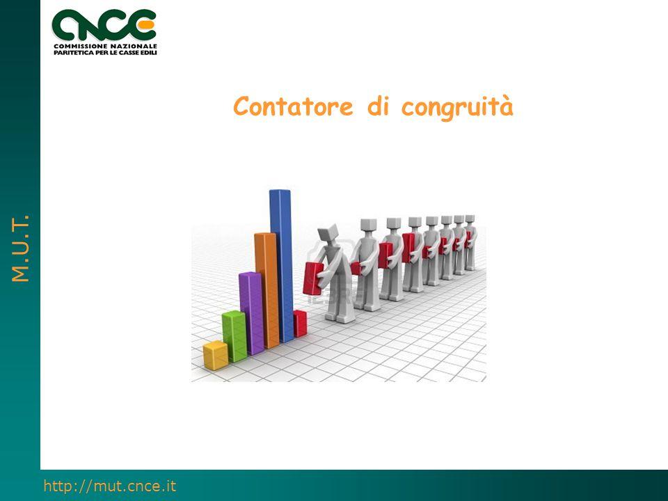 M.U.T. http://mut.cnce.it Contatore di congruità