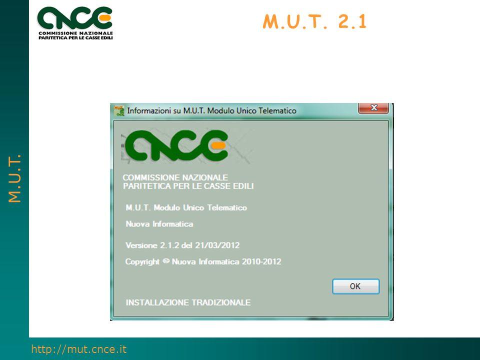 M.U.T. http://mut.cnce.it M.U.T. 2.1