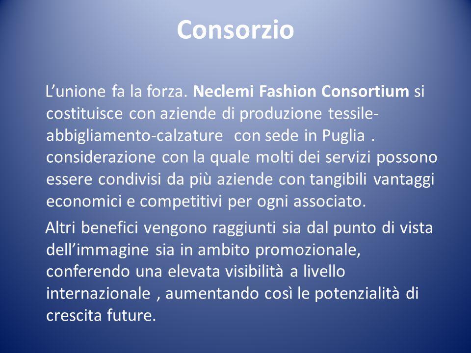 Consorzio L'unione fa la forza. Neclemi Fashion Consortium si costituisce con aziende di produzione tessile- abbigliamento-calzature con sede in Pugli