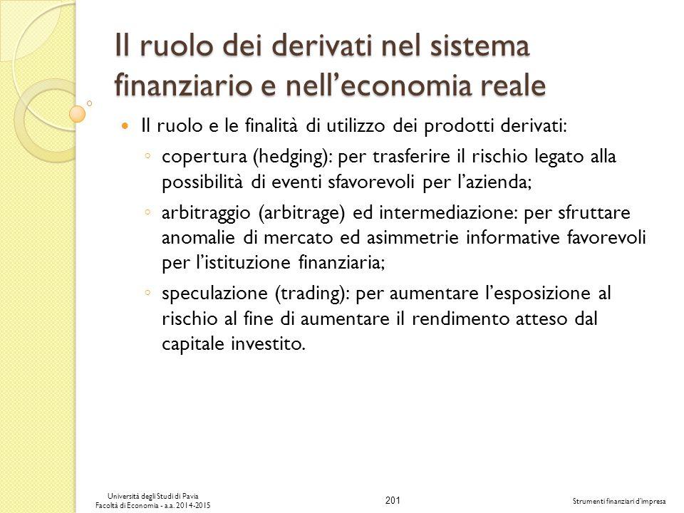 201 Università degli Studi di Pavia Facoltà di Economia - a.a.