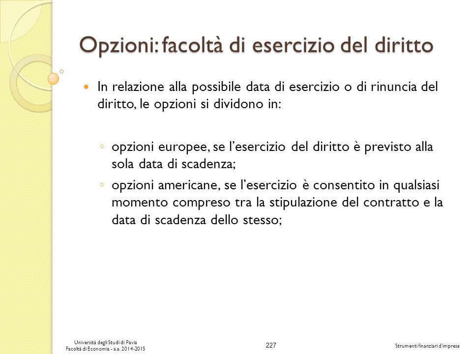 227 Università degli Studi di Pavia Facoltà di Economia - a.a.
