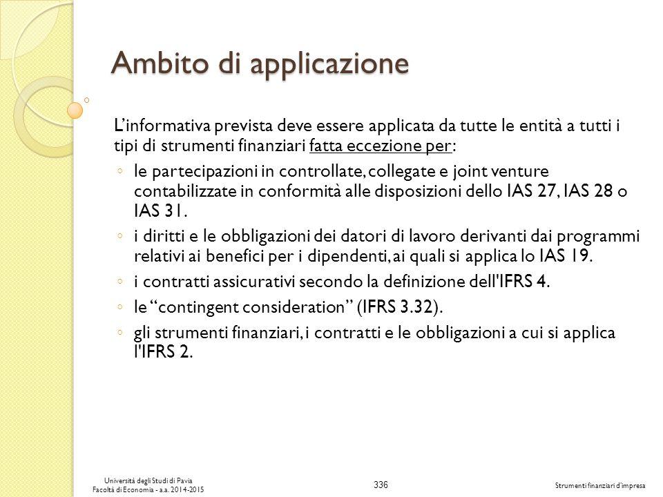 336 Università degli Studi di Pavia Facoltà di Economia - a.a.