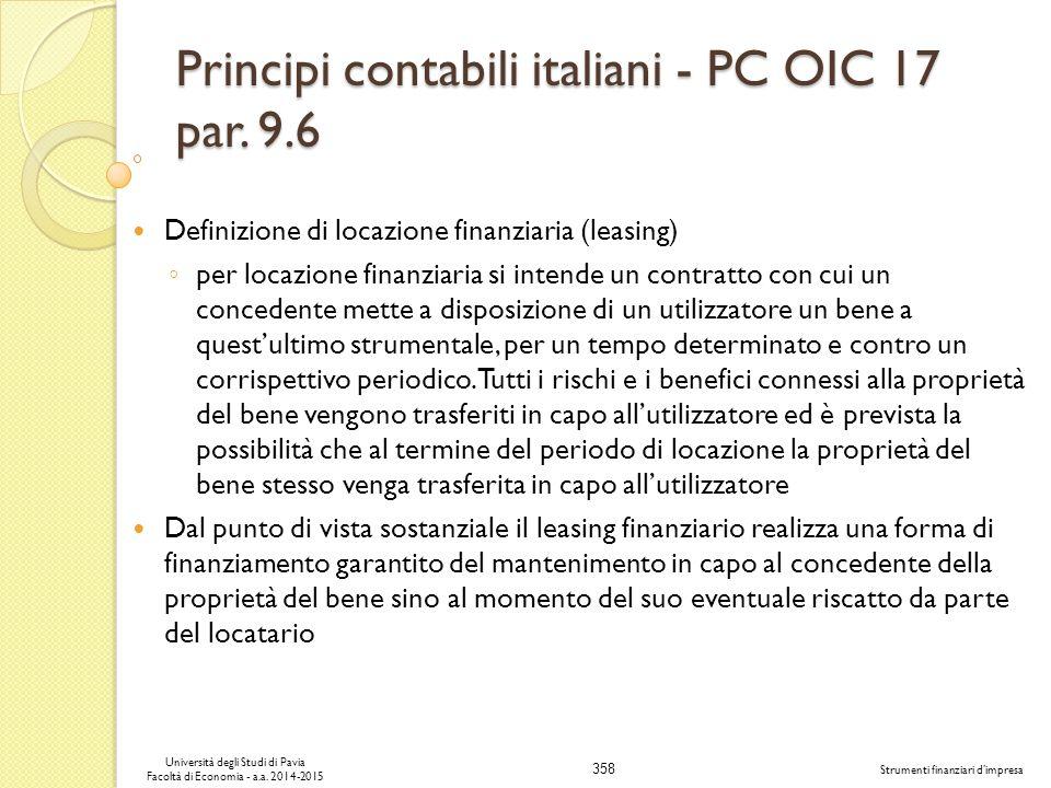 358 Università degli Studi di Pavia Facoltà di Economia - a.a.