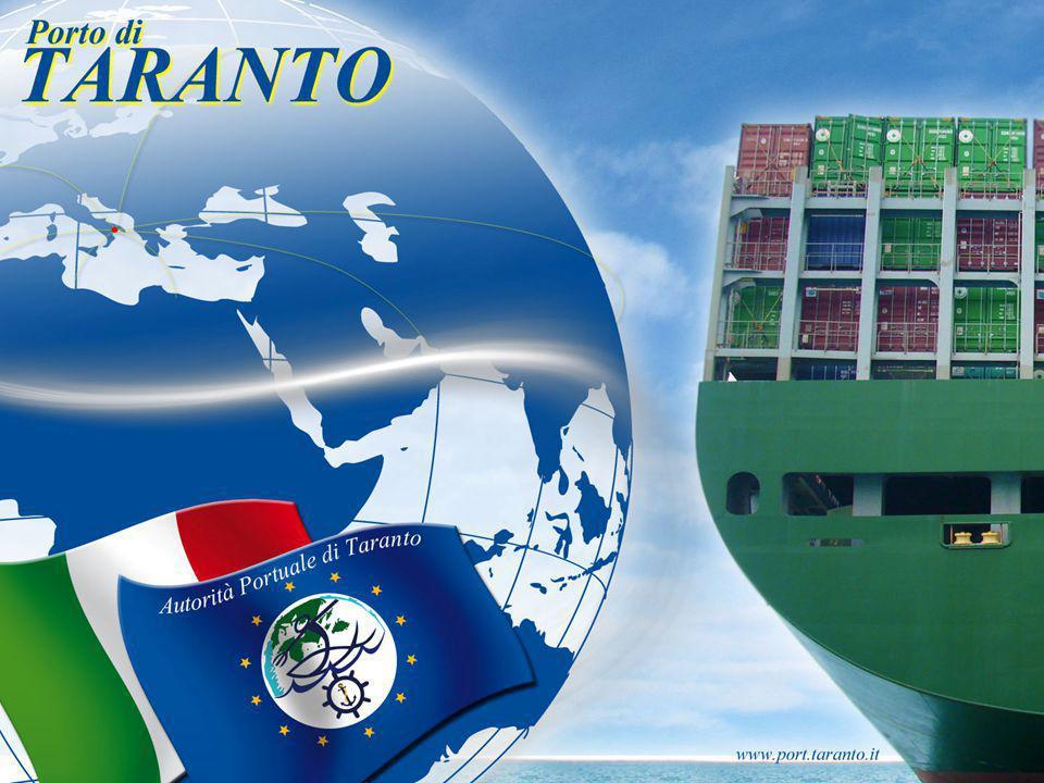 Attuale mappa del porto di Taranto