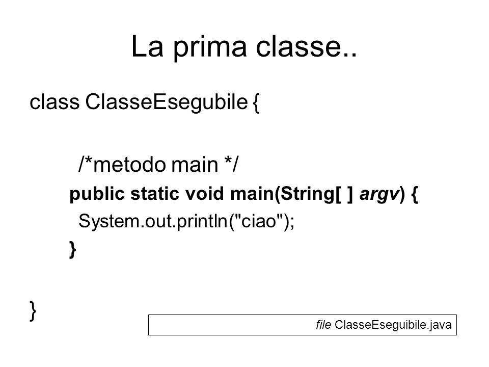 La prima classe..