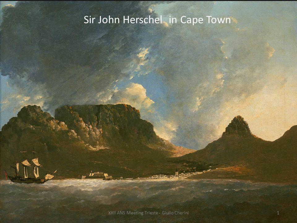 Nel 1833 John Herschel decise di proseguire il lavoro di catalogazione stellare di suo padre e partì assieme a sua moglie per Cape Town.