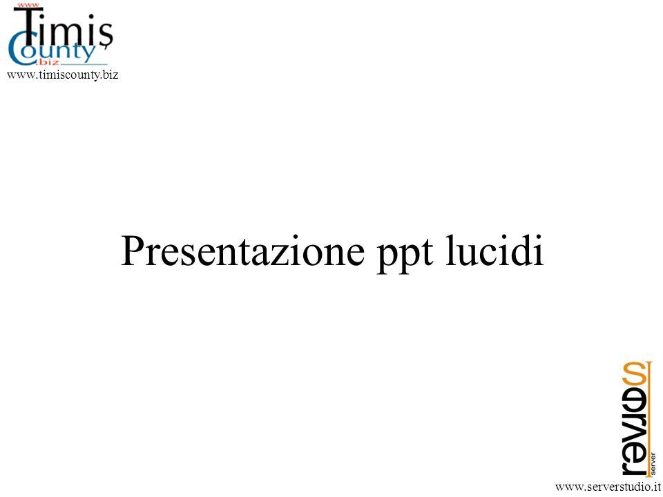 www.timiscounty.biz www.serverstudio.it Presentazione ppt lucidi