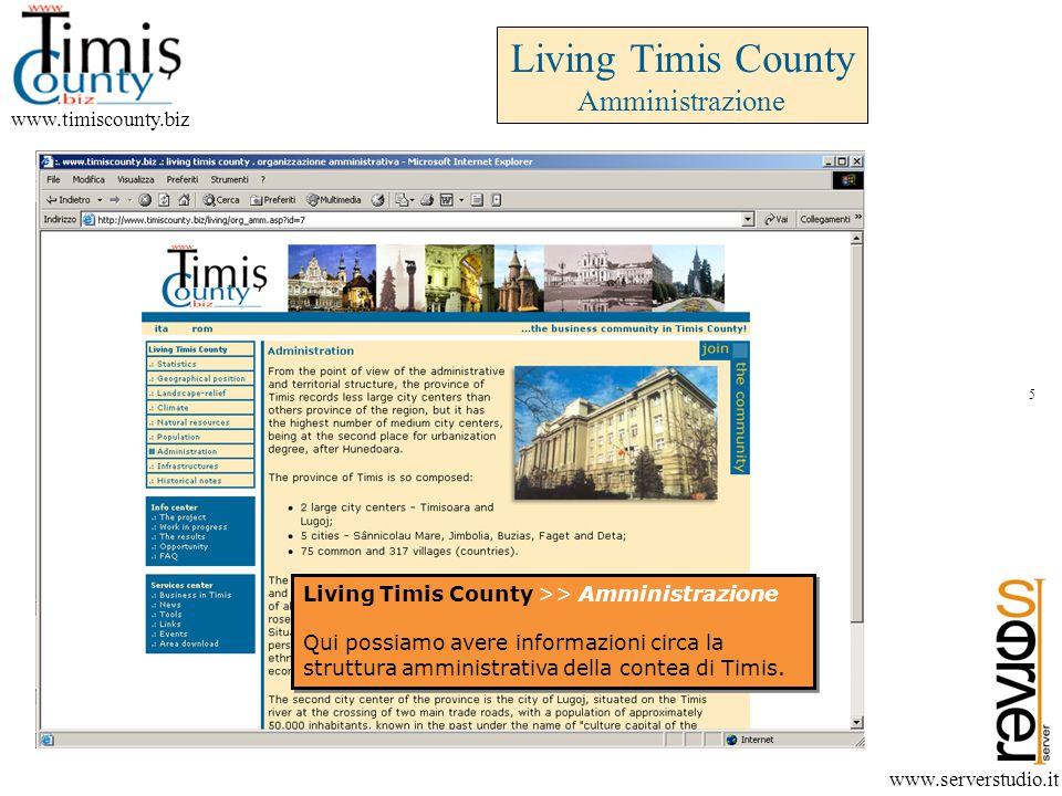 Living Timis County Amministrazione www.timiscounty.biz www.serverstudio.it Living Timis County >> Amministrazione Qui possiamo avere informazioni circa la struttura amministrativa della contea di Timis.