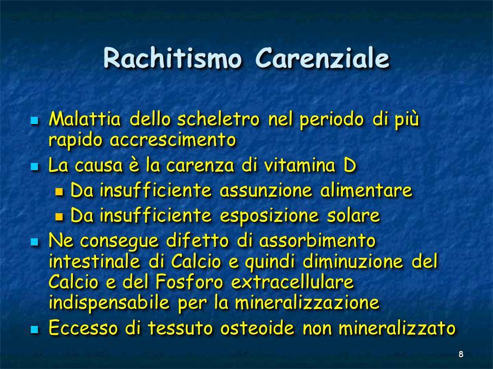 19 Livelli di assunzione raccomandati di Vitamina D Italiani (SINU-96) e Statunitensi (FDA-89) in µgetà aaIUSA in µgetà aaIUSA Bambini0,5-110-2510 1-31010 Bambini0,5-110-2510 1-31010 4-60-1010 4-60-1010 7-100-1010 7-100-1010 Maschi11-140-1510 Maschi11-140-1510 15-180-1510 15-180-1510 Femmine11-140-1510 Femmine11-140-1510 15-180-1510 15-180-1510 in µgetà aaIUSA in µgetà aaIUSA Bambini0,5-110-2510 1-31010 Bambini0,5-110-2510 1-31010 4-60-1010 4-60-1010 7-100-1010 7-100-1010 Maschi11-140-1510 Maschi11-140-1510 15-180-1510 15-180-1510 Femmine11-140-1510 Femmine11-140-1510 15-180-1510 15-180-1510 10 µg Vitamina D = 400 UI