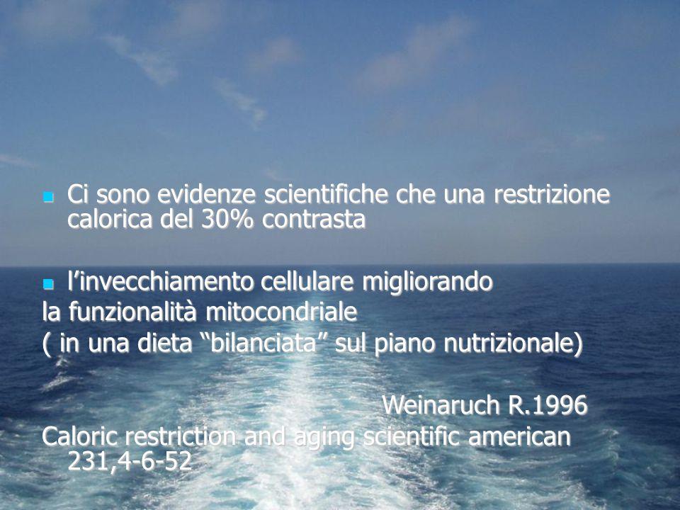 Ci sono evidenze scientifiche che una restrizione calorica del 30% contrasta Ci sono evidenze scientifiche che una restrizione calorica del 30% contra