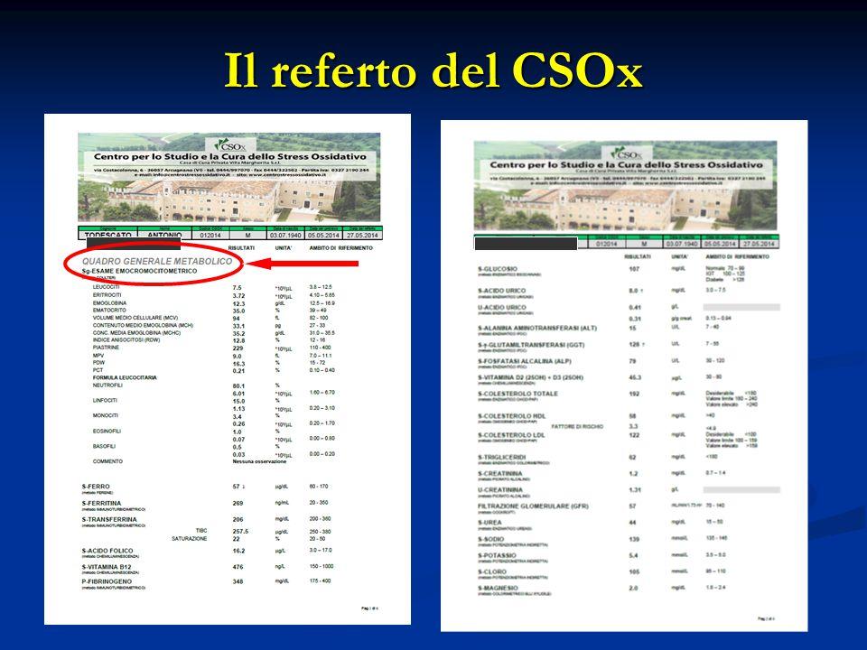 Il referto del CSOx