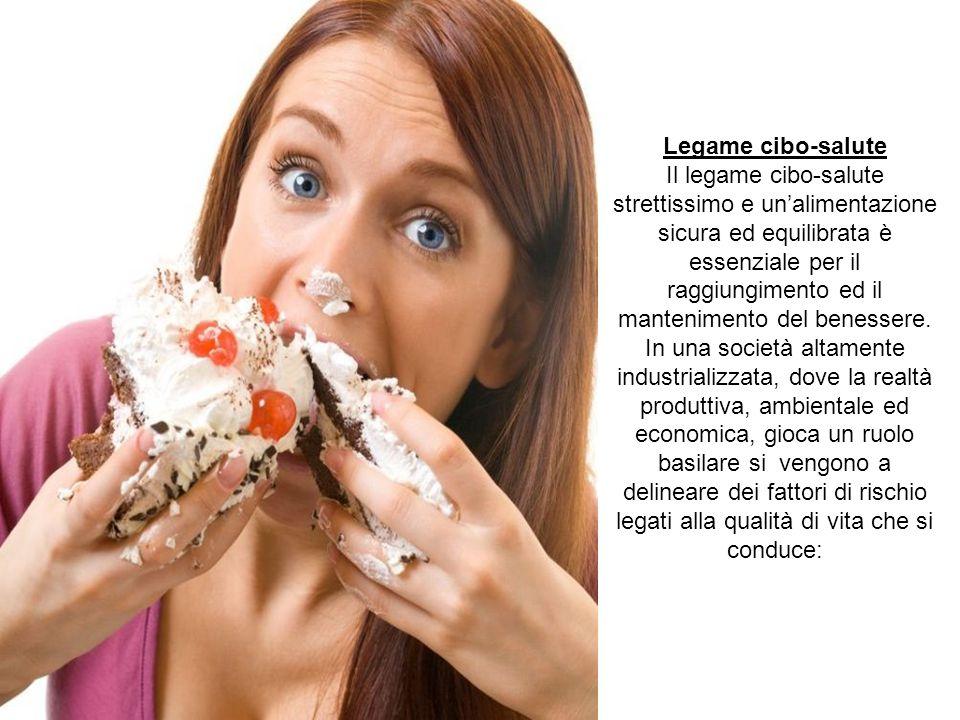 Legame cibo-salute Il legame cibo-salute strettissimo e un'alimentazione sicura ed equilibrata è essenziale per il raggiungimento ed il mantenimento d