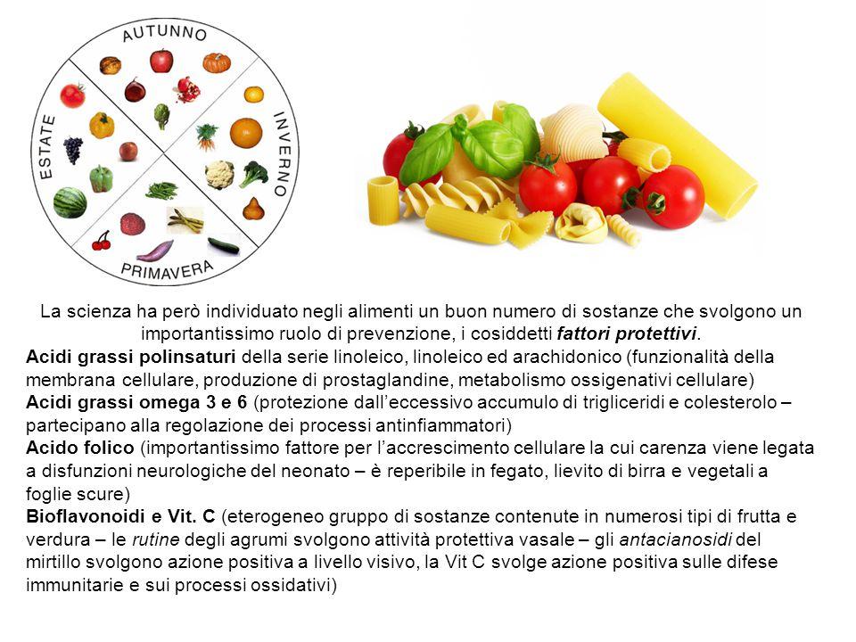 La scienza ha però individuato negli alimenti un buon numero di sostanze che svolgono un importantissimo ruolo di prevenzione, i cosiddetti fattori pr