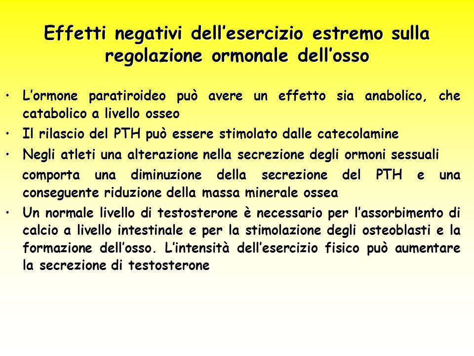 L'ormone paratiroideo può avere un effetto sia anabolico, che catabolico a livello osseoL'ormone paratiroideo può avere un effetto sia anabolico, che