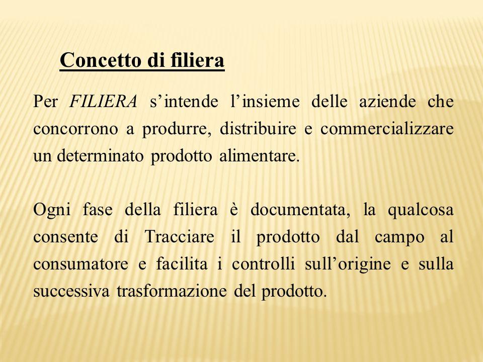 Concetto di filiera Per FILIERA s'intende l'insieme delle aziende che concorrono a produrre, distribuire e commercializzare un determinato prodotto al