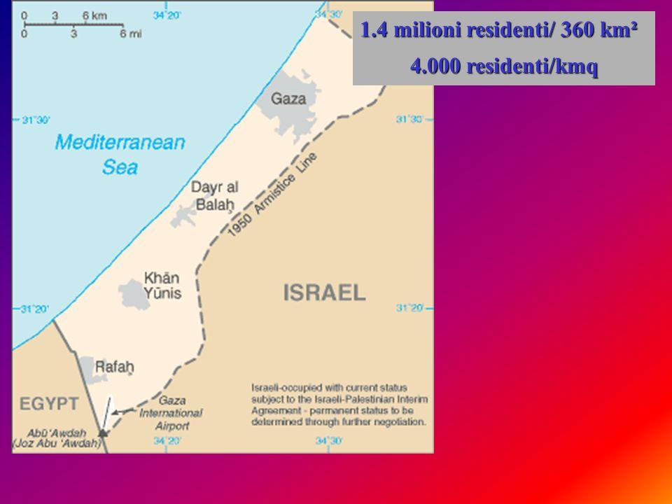 1.4 milioni residenti/ 360 km² 4.000 residenti/kmq