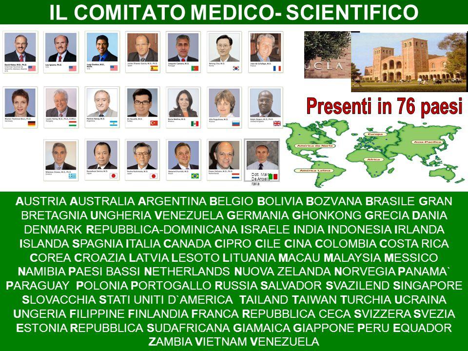 IL COMITATO MEDICO- SCIENTIFICO Dott. Marco De Angelis Italia AUSTRIA AUSTRALIA ARGENTINA BELGIO BOLIVIA BОZVАNА BRАSILE GRAN BRETAGNIA UNGHERIA VENEZ