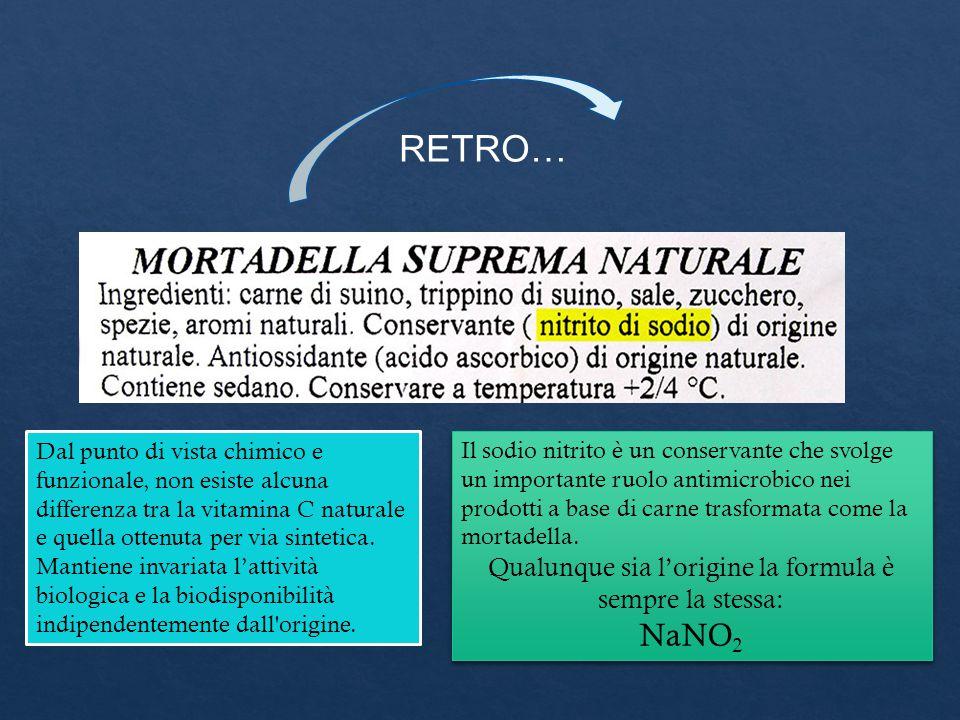 RETRO… Il sodio nitrito è un conservante che svolge un importante ruolo antimicrobico nei prodotti a base di carne trasformata come la mortadella. Qua