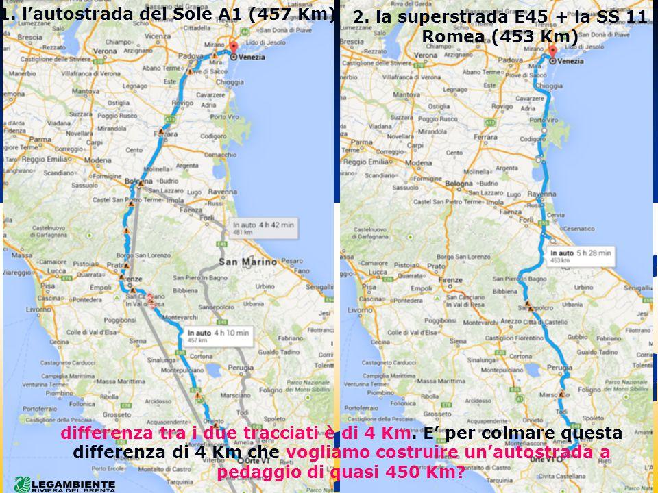 differenza tra i due tracciati è di 4 Km.