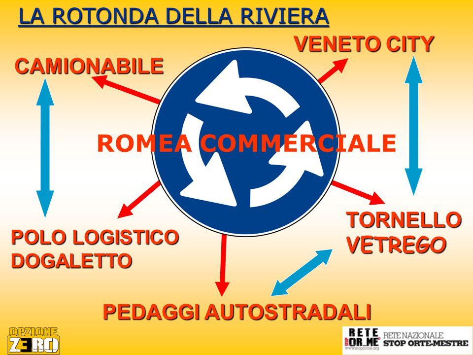 CAMIONABILE PEDAGGI AUTOSTRADALI VENETO CITY POLO LOGISTICO DOGALETTO TORNELLO VETREGO LA ROTONDA DELLA RIVIERA ROMEA COMMERCIALE