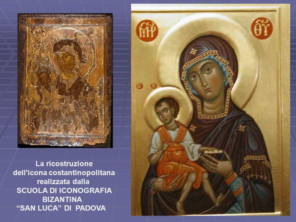 """La ricostruzione dell'icona costantinopolitana realizzata dalla SCUOLA DI ICONOGRAFIA BIZANTINA """"SAN LUCA"""" DI PADOVA"""