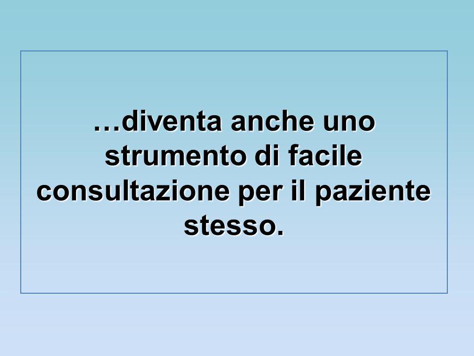 …diventa anche uno strumento di facile consultazione per il paziente stesso.