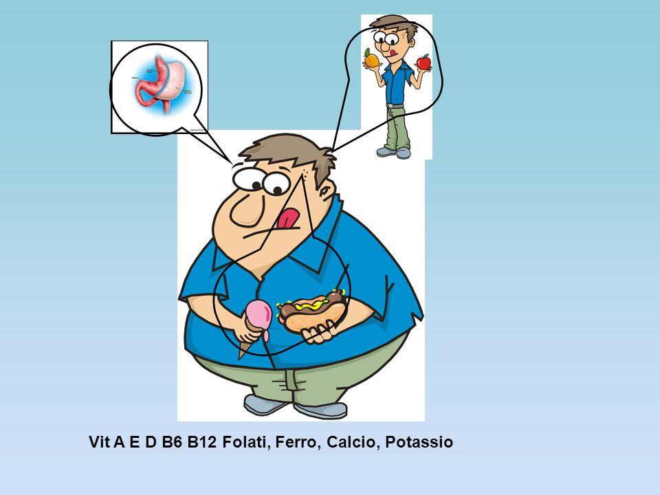 Vit A E D B6 B12 Folati, Ferro, Calcio, Potassio