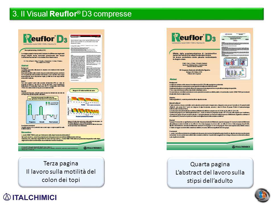 3. Il Visual Reuflor ® D3 compresse Quarta pagina L'abstract del lavoro sulla stipsi dell'adulto Quarta pagina L'abstract del lavoro sulla stipsi dell
