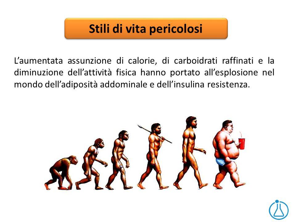 Stili di vita pericolosi L'aumentata assunzione di calorie, di carboidrati raffinati e la diminuzione dell'attività fisica hanno portato all'esplosion