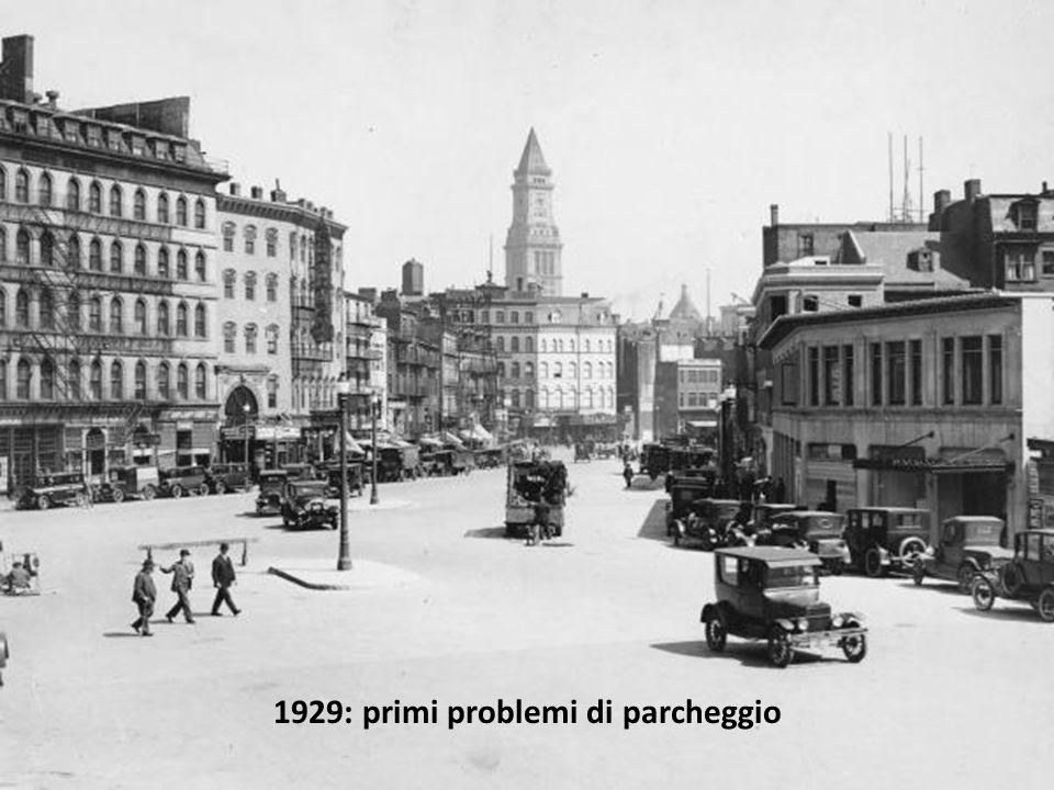1929: primi problemi di parcheggio