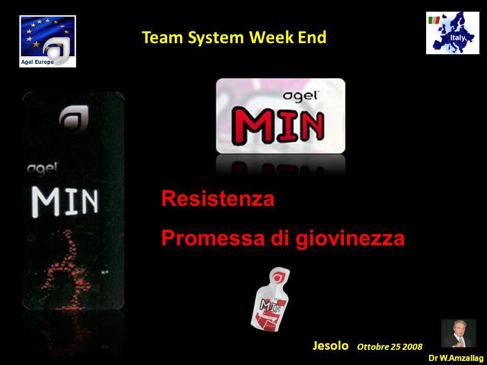 Dr W.Amzallag Jesolo Ottobre 25 2008 5 Team System Week End Resistenza Promessa di giovinezza