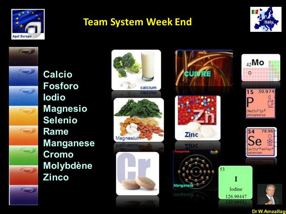 Dr W.Amzallag Jesolo Ottobre 25 2008 5 Team System Week End Calcio Fosforo Iodio Magnesio Selenio Rame Manganese Cromo Molybdène Zinco