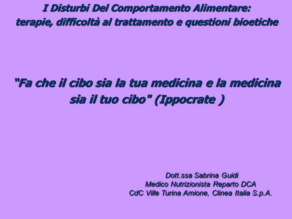 I Disturbi Del Comportamento Alimentare: terapie, difficoltà al trattamento e questioni bioetiche BMI 2225301118.535404569.4 A.N.