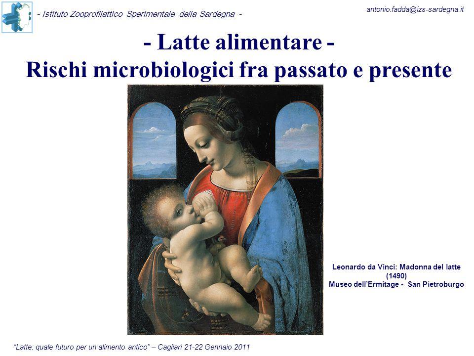 """- Latte alimentare - Rischi microbiologici fra passato e presente """"Latte: quale futuro per un alimento antico"""" – Cagliari 21-22 Gennaio 2011 - Istitut"""
