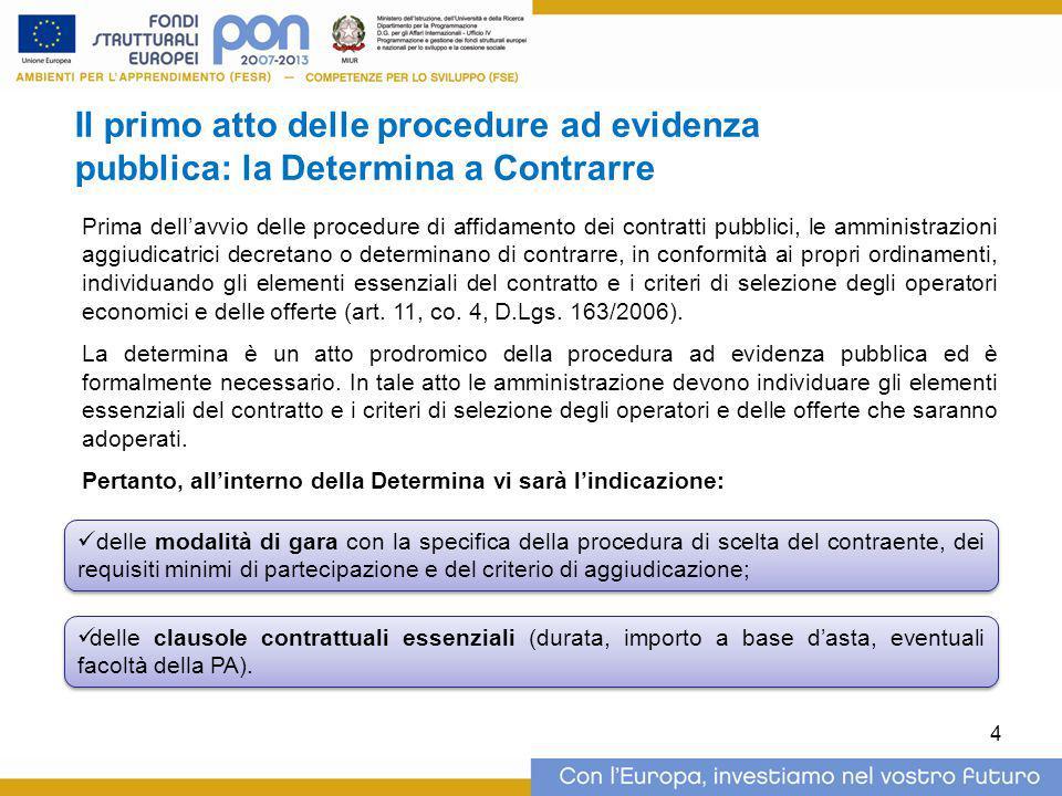 Il primo atto delle procedure ad evidenza pubblica: la Determina a Contrarre Prima dell'avvio delle procedure di affidamento dei contratti pubblici, l