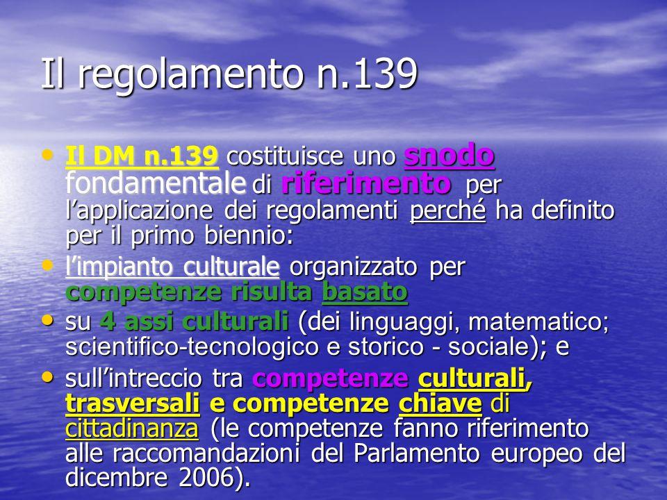 Il regolamento n.139 Il DM n.139 costituisce uno snodo fondamentale di riferimento per l'applicazione dei regolamenti perché ha definito per il primo
